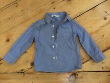 Hemd H&M fein gestreift weiß/blau Gr. 98 Langarm für Freizeit und Fest