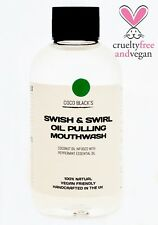 200ml Coconut Oil Pulling Mouthwash with Peppermint Essential Oil *100% Natural