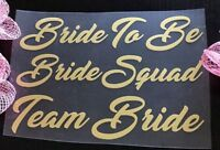 Bridesmaid, Bride, Team Bride Iron On T-shirts Transfer Vinyl Wedding Party