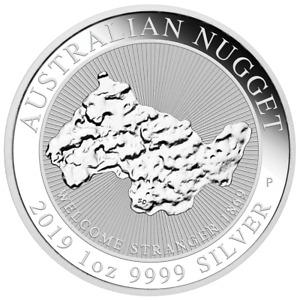 Australien - 1 Dollar 2019 - Australian Nugget - Anlagemünze - 1 Oz Silber ST
