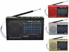 BRAND NEW Supersonic SC-1080BT 9-Band Radio w/ Bluetooth/USB/MicroSD-In, Black