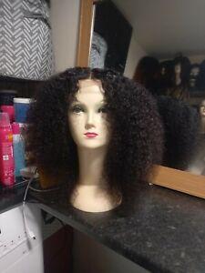 Kinky-curly afro wig human hair