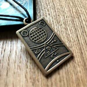 Travel Protection Talisman Bronze Pendant for Safety Travel Safe Journey Charm