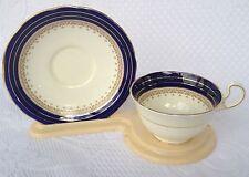 Aynsley Cobalt Blue/Gold/Floral  B 4998 Tea Cup & Saucer (203)