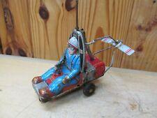 Vintage Tin Litho Friction Toy – Haji Gyrodyne XRON-1 Rotorcycle (Parts)