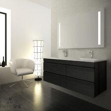 VELLENA Wall Hung 1200mm Charcoal Grey Bathroom Vanity Double Bowl Basin