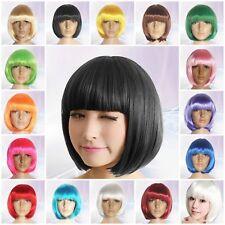 Women Ladies BOB Short Straight Party Full Wig Fancy Dress Cosplay Costume Wigs