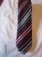 Astor and Black Maroon Striped Silk Neck Tie