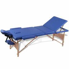 Inklapbare massagetafel 3 zones met houten frame (blauw) massage tafel behandel