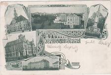 Gruss aus Borna,Germany,5 Views,Near Leipzig,Free State of Saxony,Used,1901