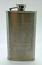 JACK DANIELS STAINLESS STEEL 4 oz HIP FLASK - WHISKEY PUB BAR HOME WHISKY