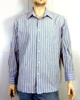 euc Lacoste Colorful Striped Button Down Dress Shirt Made in France sz L 44