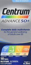 Centrum Advance 50 Plus Multivitamínicos comprimidos, paquete de 100