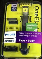 Philips Norelco OneBlade Face + Body hybrid electric trimmer / shaver, QP2630/72