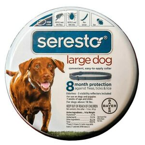 Seresto Flea & Tick Collar Dog insect treatment Easy to Apply Collar Large Dog