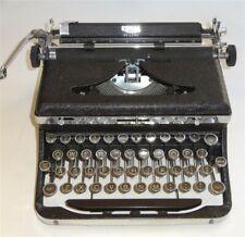 Antique 1930s Royal Portable Black Amp Chrome Art Deco Typewriter Amp Case