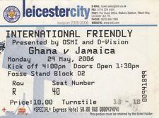 BIGLIETTO-GHANA V Giamaica 29.05.06 @ Leicester City