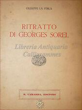 Giuseppe La Ferla, RITRATTO DI GEORGES SOREL 1933 Carabba Biografia ediz. numer.