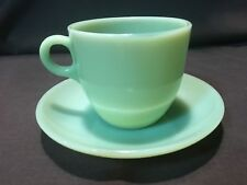 ONE (1) FIRE KING JADEITE ST. DENIS CUPS ~SAUCERS FROM THE BREAKFAST SET JADITE