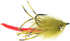 Fly Fishing Flies (Bream, Catfish, Trout, Carp, Bass) Wabbit Worm Olive (x 6)