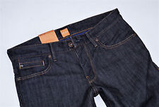 NUEVO - Jefe de Hugo - W32 L34 - Orange 24 PURE Denim - jeans rectos 32/34