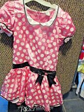 DISNEY~Pink & White POLKA DOT MINNIE MOUSE DRESS Costume~Juniors Large~NWT