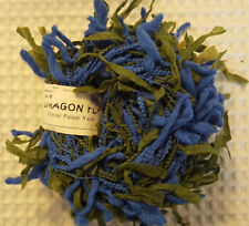 Crystal Palace Yarn DragonFly - Blue Green Chunky Eyelash Novelty Discontinued