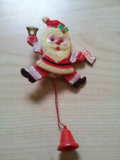 Vintage 1950's Rare Childrens Christmas Santa Clause Movable Pin Badge