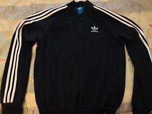 Men's Adidas Soccer 3 Stripes Track Jacket Black Size Small