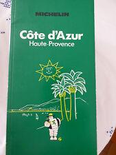 guide vert michelin cote d'azur haute provence 1985