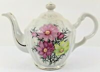English Style Floral Print with Gold Trim Teapot