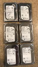 "Lot of 6 Seagate Barracuda ST3250310AS 250GB 3.5"" SATA II Desktop Hard Drives"