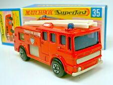 Matchbox SF Nr.35A Merryweather Fire Engine rare cremefarbene Bodenplatte