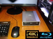 NEW USB 3.0 External LG 16X WH16NS401.02 4K UHD friendly Blu-ray drive. Silver.