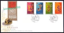 Hong Kong 2000 Zodiac Series Lunar New Year of the Dragon, 4v Stamps on FDC