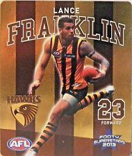 "2013 TIP TOP LANCE ""BUDDY"" FRANKLIN SUNBLEST SUPERSTARS TAZO #02 FOOTBALL CARD"