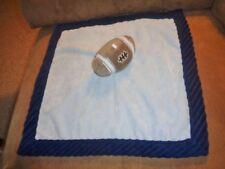 "Blanket Football Carters Boy Baby Blue Brown Navy Security Plush 14"" Sport Lovey"