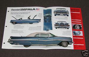 1959 CHEVROLET IMPALA CUSTOM Car SPEC SHEET BROCHURE PHOTO BOOKLET