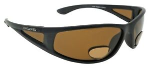 PowerStriker Sunglasses Polarized Brown UV400 Lenses with Bifocal+2.50 Insets