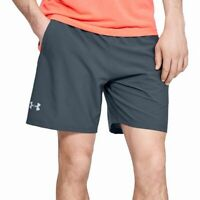 Under Armour Mens Gray Size Small S Launch Stretch Activewear Shorts $35 #149