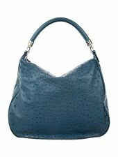 Tiffany & Co Marlow Hobo Ostrich Leather Blue Bag Purse