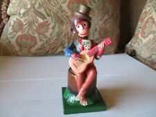New ListingVintage antique tin & celluloid wind up Monkey , playing his Guitar