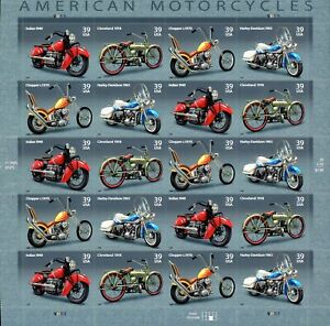 US -Sc#4088a (SHEET) - (2006) Motorcyles (.39x20)