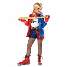 COSTUME CARNEVALE da HARLEY QUINN RAGAZZA JOKER 51165 vestito per ragazza bambin