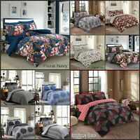 4 Pcs Complete Bedding Set Duvet Cover Ploy Cotton Fitted Sheet Pillow Case