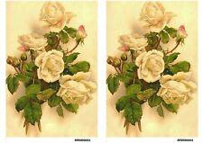 Rice paper decoupage #161297 napkin vintage Flowers roses supplies craft Milotto