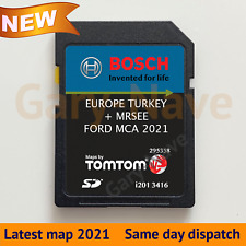 """2021 - 2022 FORD MCA 7"""" V11 SD Card Focus Mondeo Kuga Galaxy S-MAX UK & EU Map"""