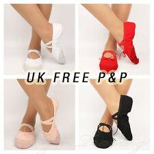 Ballet Canvas Dance Yoga Gymnastic Shoes - UK STOCK