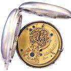Antique Sterling Silver Pocket Watch CA1812   Verge Fusee Watch