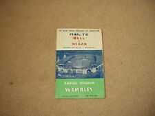 1959 Hull v Wigan Challenge Cup Final Rugby League Program